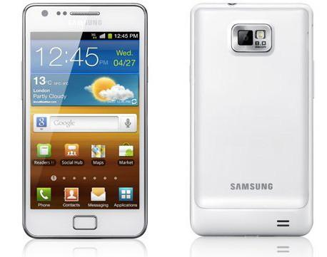 white-galaxy-s2  Samsung announces white version of Galaxy S II Android superphone
