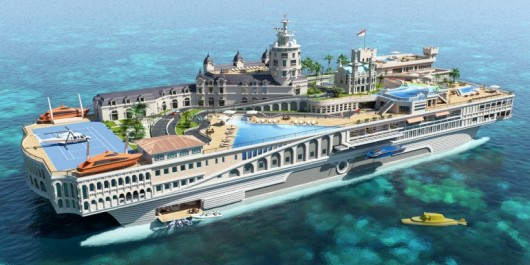 yachtdesignsfloatingislandmegayacht-9 Best waste of money - 90 Metre Floating Island Yacht