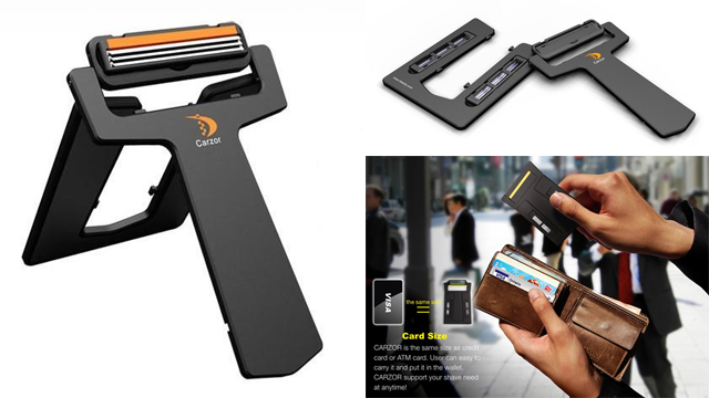 creditcardrazor Carzor credit card-sized razor fits in your wallet