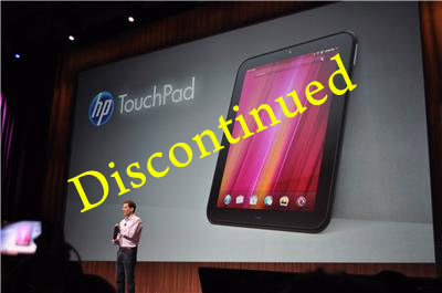 hp-touchpad-discontinued Price on HP TouchPad tablet plummets to $99.99