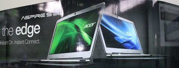 acer-aspire-s3  Acer Aspire S3 ultrabook offers slim looks, instant on tech