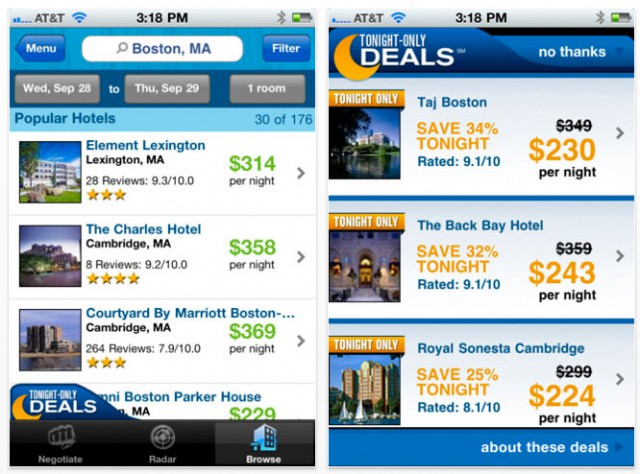 priceline-app-640x474 Priceline Tonight-Only app finds you the cheapest hotel deal that night