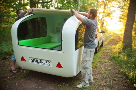 sealander-cover   Versatile Sealander camping trailer is also a boat and a tent
