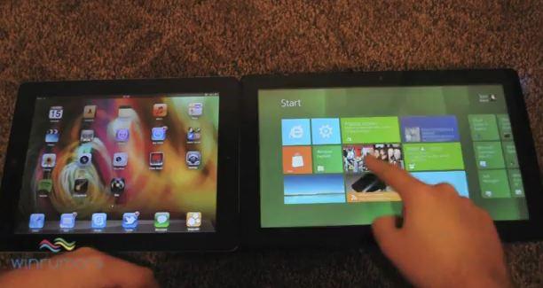 win8 Video showdown: Windows 8 slate vs. iPad iOS 5