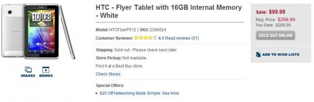 111006-flyer Price Error: HTC Flyer Android tablet is not $99 from Best Buy