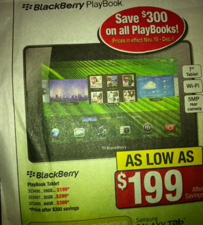 111118-playbook BlackBerry PlayBook Slashed Down To $199