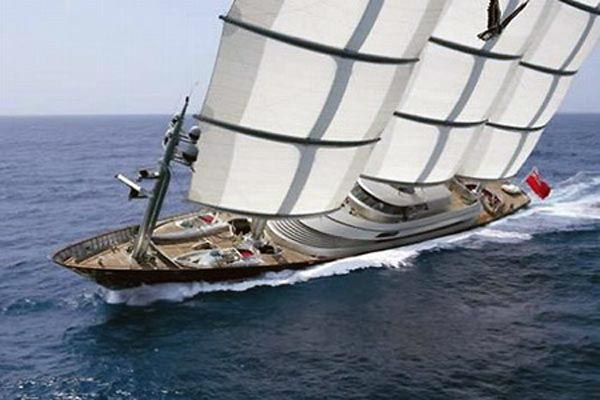 111216-yacht4 The Lap Of Speedy Luxury With $130 Million Maltese Falcon Sailing Yacht