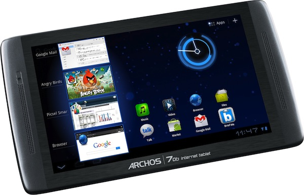 111220-archos Archos 70b First HoneyComb 3.2 Android Tablet Under $200