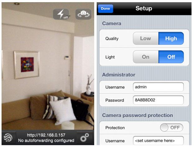 iphone-camera-ip-monitor iVigilo iOS App Remotely Monitors IP Security Cameras