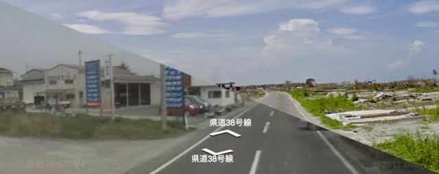 japana-before-after-640x254 Google Street View Adds Time Machine: Japan's Visual Tsunami Timeline