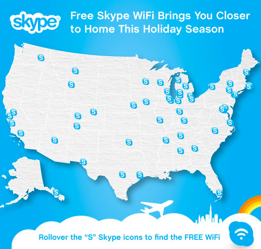 skype-free-wifi Skype Gives Free WiFi at Airports To Holiday Season Travelers