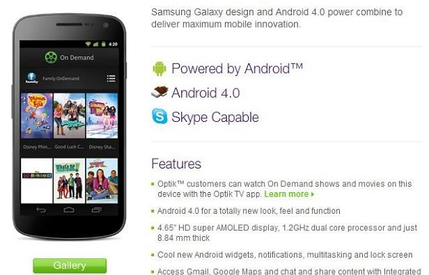 120105-telus Samsung Galaxy Nexus Expands to Telus Universe January 13