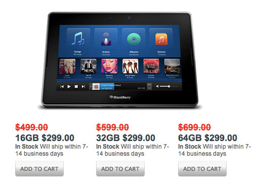 bb-playbook-special-price RIM Slashes All PlayBook Models To $299