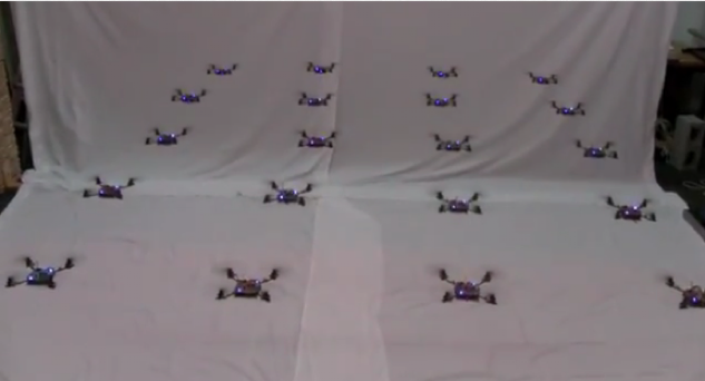 120203-swarm1 Skynet for Real: Organized Swarm of Nano Quadrocopters (Video)