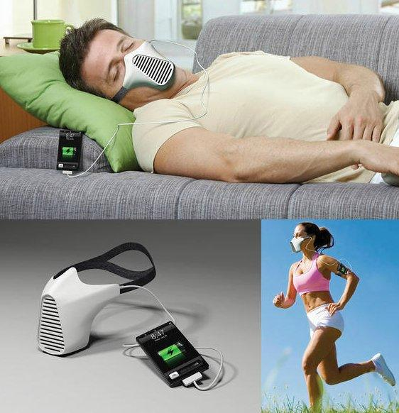 aire Storm Trooper-esque Concept Charges Device While You Breathe