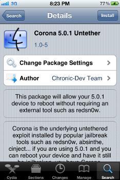 coupdate iOS5 Jailbreak Tool for iPad 2 and iPhone 4, Corona, Updated
