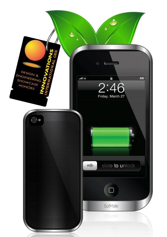 greeni-e1328728343647 SolMate iPhone 4 Case Is Not Your Typical Solar Charger