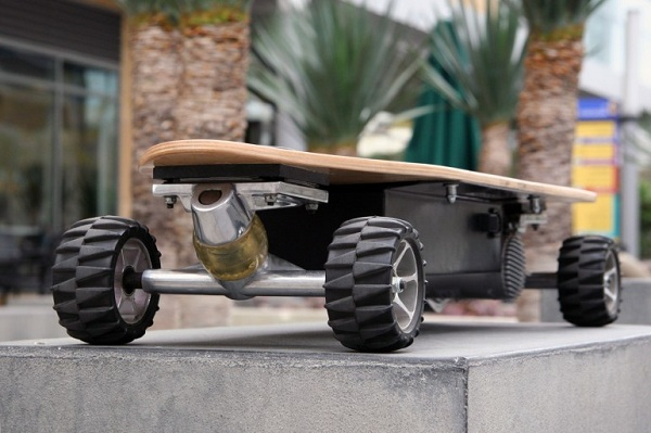 zboard-motorized-skateboard The ZBoard Weight-Sensing Electric Skateboard