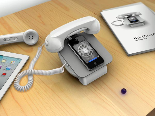 120323-retro iRetroPhone Rotary Dial with Dock for iPhone