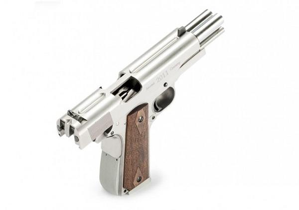 arsenal-double-barrel-pistol-1 Double Barrel .45 cal Hand Gun is Overkill (Video)