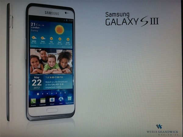 "galaxy-s-iii-leak Samsung Galaxy S 3 To Arrive in May? Photos ""leaked"""