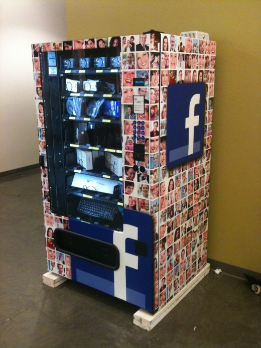 fvend lol: Google Attacked for Copying Facebook Vending Machine