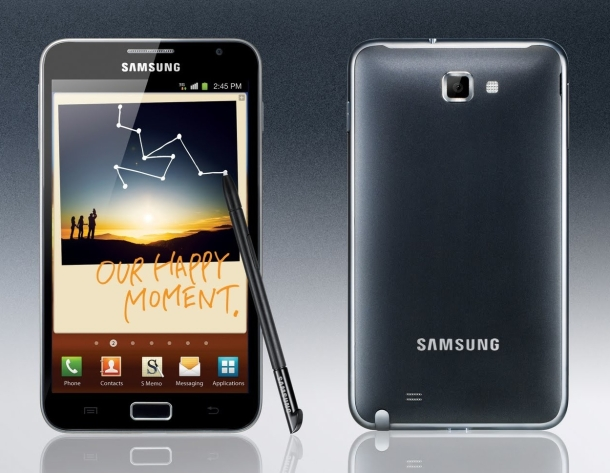 galaxynote Android ICS Shown Off On The Samsung Galaxy Note At CTIA