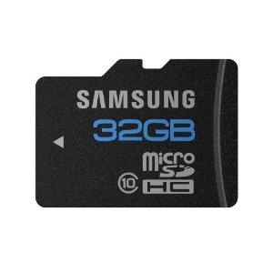 32gbmicroSD Daily Deal: Samsung 32GB microSDHC Class 10 Memory Card for $27.99