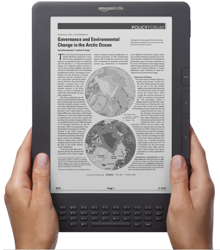 kindle-dx Save $110 on Kindle DX E-Book Reader with Free 3G, Free Shipping