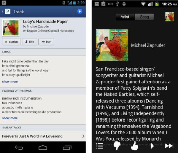 pandora Pandora for Android Gets A Makeover
