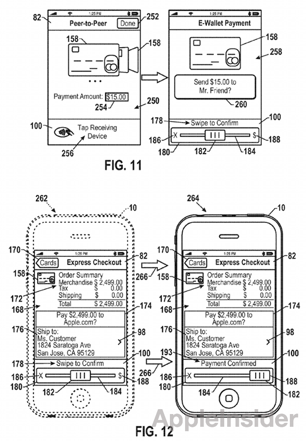 patent1 Apple Patent Suggest Sliding Virtual Cards to Confirm NFC Payments?