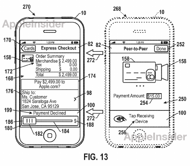 patent2-640x558 Apple Patent Suggest Sliding Virtual Cards to Confirm NFC Payments?