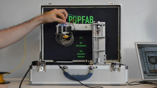 popfab MIT Students Create 3D Printer that fits in a Suitcase