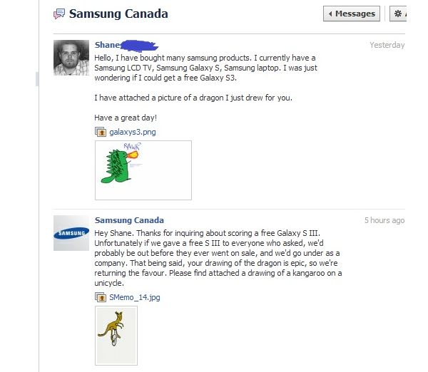 samsungcanbook Samsung Canada gives away a one-of-a-kind Galaxy S