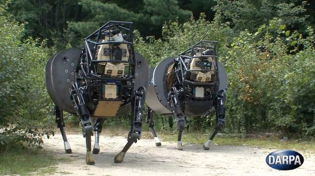 "120912-darpa1 Video: DARPA Upgrades ""Big Dog"" LS3 Four-Legged Robots"
