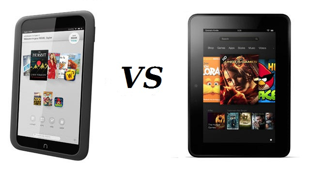 firenook Kindle Fire HD 7-inch VS Nook HD: How Do They Compare?