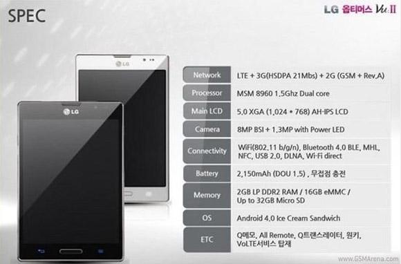 lgvu2 Rumored Samsung Galaxy Note 2 Competitor: LG Vu 2