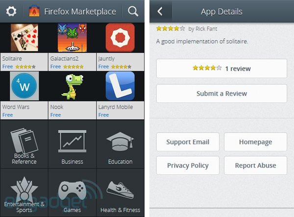 market Firefox Marketplace Finally Leaked, Utilizes Minimalistic Approach