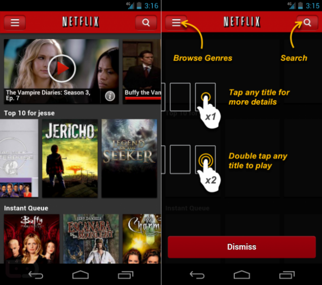 net Netflix for Android Gets an Upgrade, at Least for Some Users