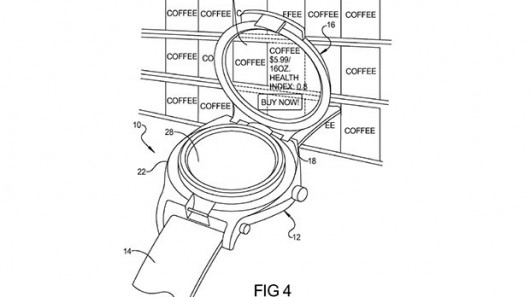 gpatent Google patent points to their own augmented-reality smartwatch