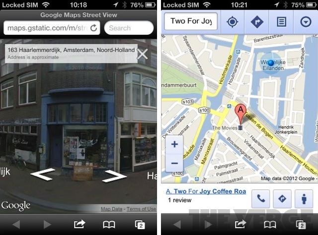 gstreet Google Street Makes Its Way to the Google Maps iOS Web App