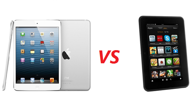 k-fire-ipad Kindle Fire HD versus iPad Mini: Which is Right for You?