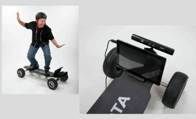 kinect-toyota-skateboard-640x390 Toyota Concept Shows Off Kinect-Controlled Skateboard
