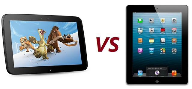 nexus-ipad-compare Samsung Nexus 10 versus Apple iPad: Which is right for you?