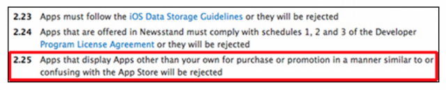 screen-640x130 Apple AppStore Guidelines May Now Somewhat Restrict 3rd Party App Advertising