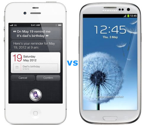 iphone4s-vs-sgs3 iPhone 4S vs Samsung Galaxy S3 for World's Best-Selling Smartphone Title