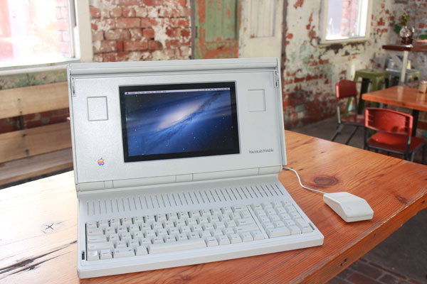 mac-portable-hack Macintosh Portable running OSX, Well Sort Of
