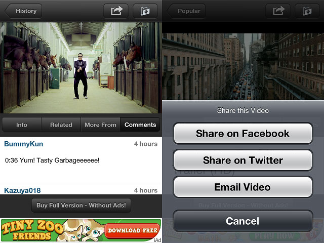 videotube1 Video Tube iPhone App Review