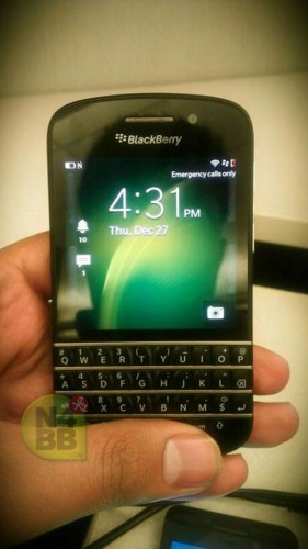 bb10-x10 Blackberry 10-based X10 Poses For Camera