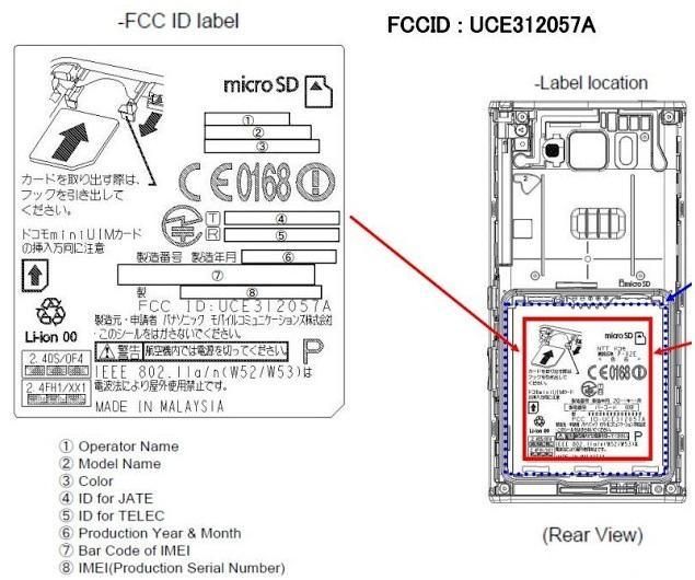 fcc-panasonic Panasonic P-02E Confirmed via FCC Sighting